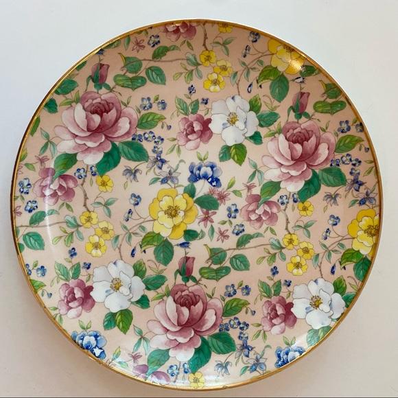 Vintage Springfield China Chintz Decorative Plate